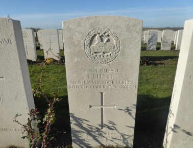 Private Tom Little South Wales Borderers - Passchendaele New British Cemetery - Photo © Rob Shephard