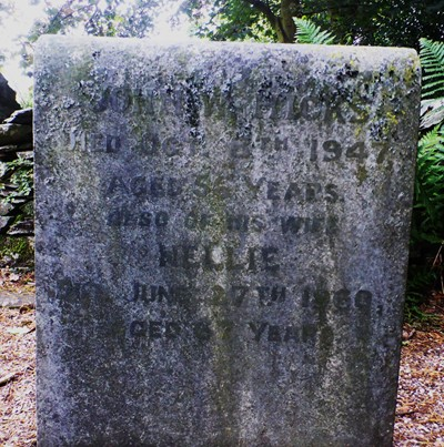 The Grave of John and Nellie Hicks in Patterdale Churchyard