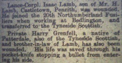 The story of Harry and James' wounds as reported in The Herald.