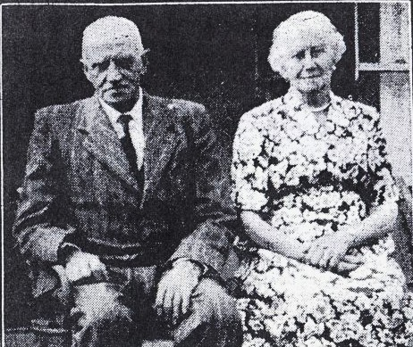 Glen and Jane Pattinson at the time of their Golden Wedding in 1957