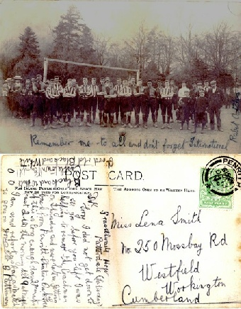 Ullswater Football Club 1906 Postcard from Glenthorne Pattinson