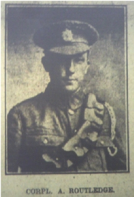 Corporal ALbert Routledge MM