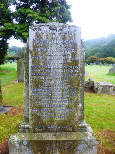 Tom's Family Gravestone in Patterdale Churchyard, with his parents and sister.