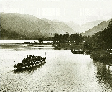 The Lady of the Lake Approaching the Jetty at the Ullswater Hotel