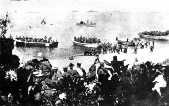Suvla Bay during the landings of August 1915