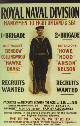 RNVR Recruitment Poster from WWI