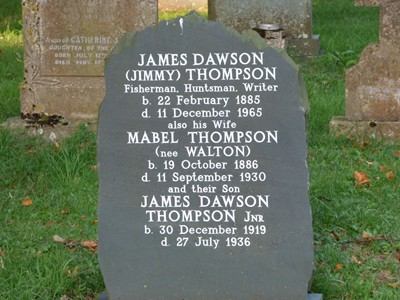 The grave of Jimmy Thompson
