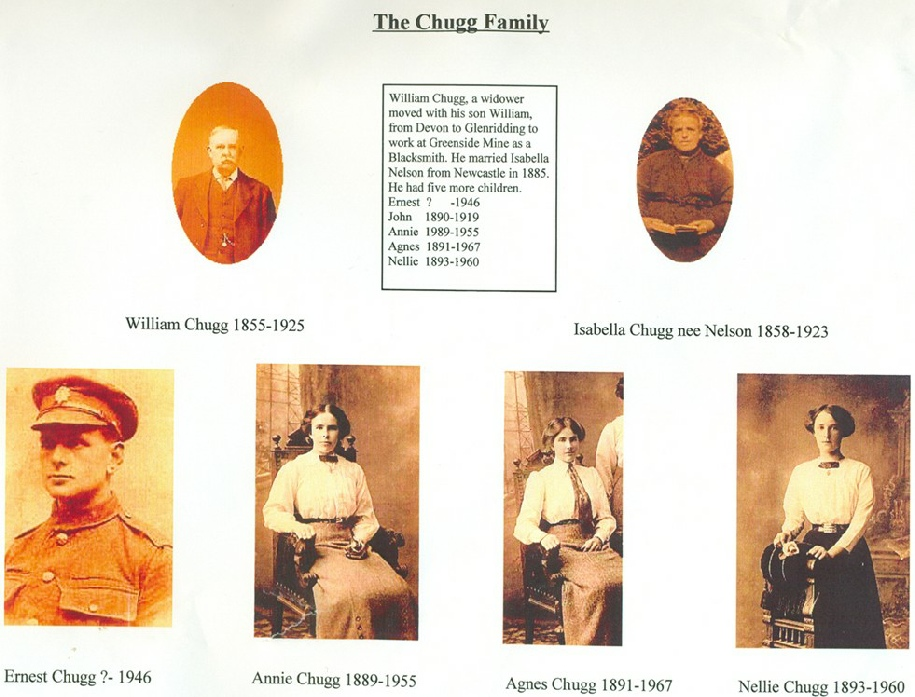 Photos of the family of Ernest Chugg