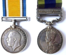 War Medal and Indian GSW Medal with NWF Clasp