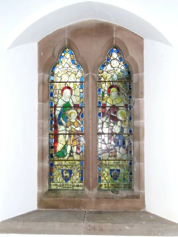 The stained glass wiondow dedicated to Tom's mother Elizabeth in St Patrick's Church